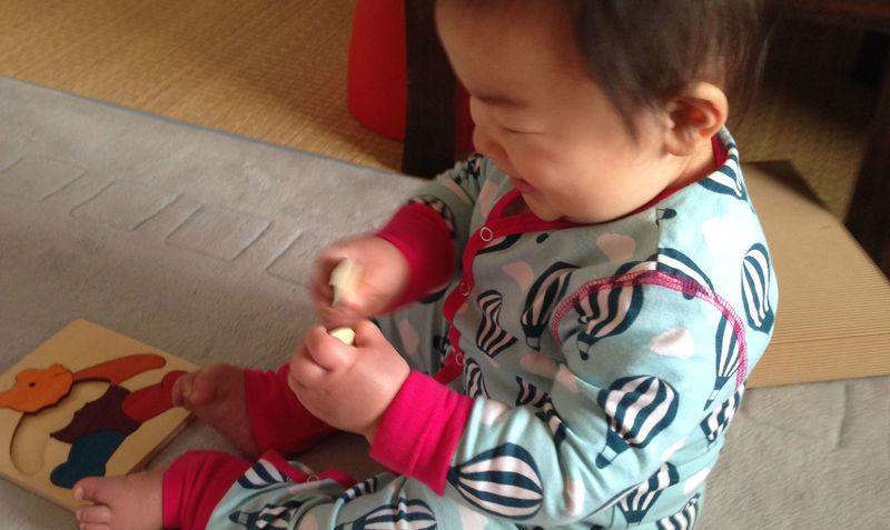 カラフルパズルくまジョージラックパズル小さな子供のパズル