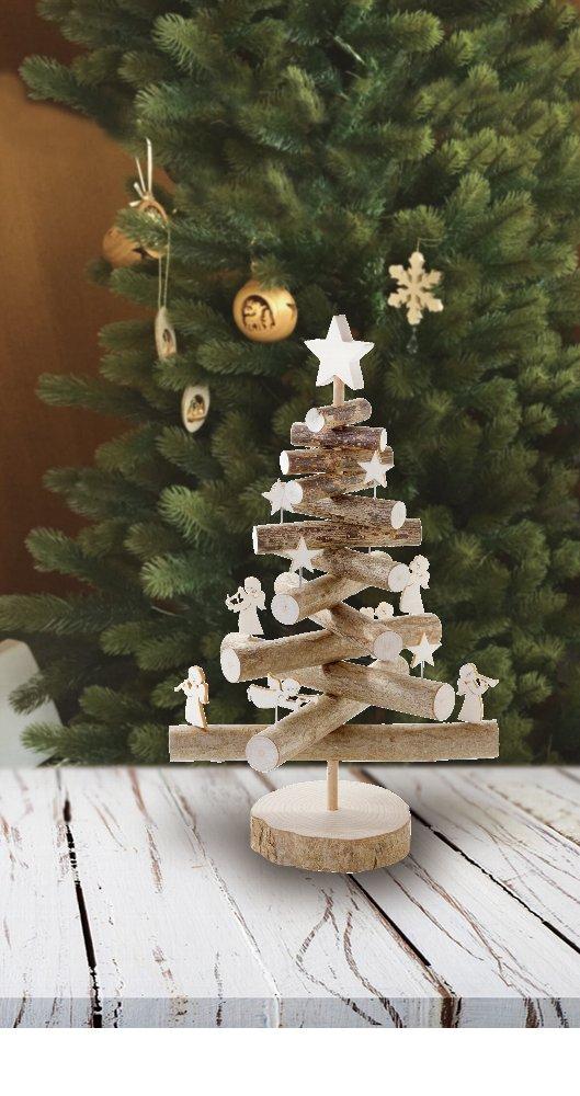 枝で出来た卓上クリスマスツリー
