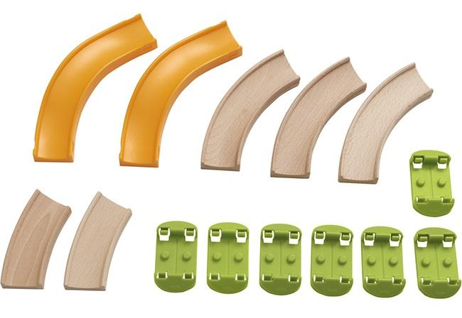 はじめての木プラレールセット クラビュースターターキット 木のおもちゃ  追加パーツ HABA社 ハバ社 2歳 3歳 4歳