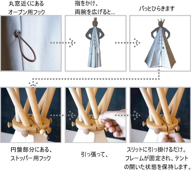 キッズテント設置方法