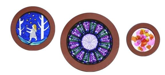 クリスマス ステンドグラス風 トランスパレントセット 北欧 トランスパレントペーパー  折り紙