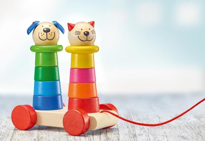 プルトーイ・フェリーノ 引っ張るおもちゃ cat ねこ Filino, Nachziehtiere pull-along + stacking toy selecta
