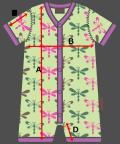 マクソモーラ 半袖カバーオール サイズ表