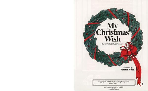 オンリーワン絵本クリスマスの願いごと